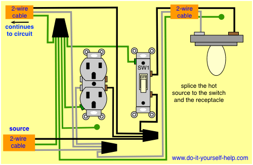 Wiring A Switch Middle Of Circuit
