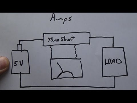 Wiring Dc Ammeter (load Meter)   Volt Meter