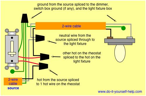 Wiring Diagram For A Rheostat Dimmer