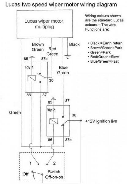 Wiring Diagram Lucas Wiper Motor