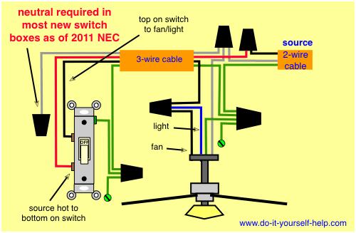 Wiring Diagram, Switch Loop Ceiling Fan