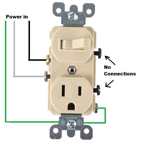 Wiring For A Switch Socket Combo