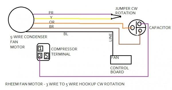 York Heat Pump Condenser Motor Wiring