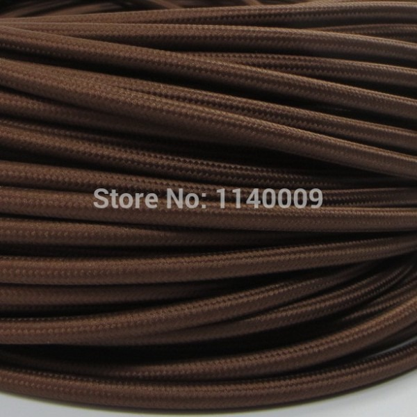 10 Meters Brown Color 2 Core 0 75mm2 Textile Electrical Wire Color