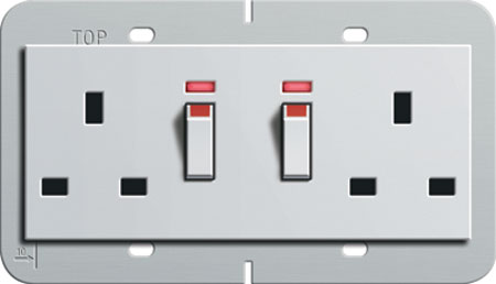 13a Double Socket With Switch & Neon 985 50 692 [98550692