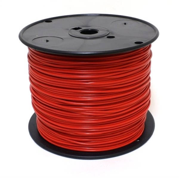 18 Gauge Red Automotive Wire 1000 Ft  Spool