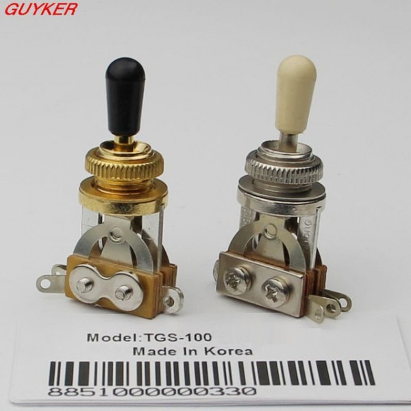 1 Pcs Guitar 3 Way Toggle Switch Pickup Selector Nickel   Gold