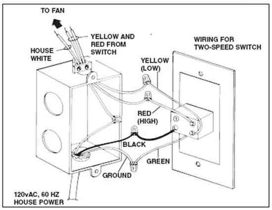 2 Speed Fan Switch Wiring
