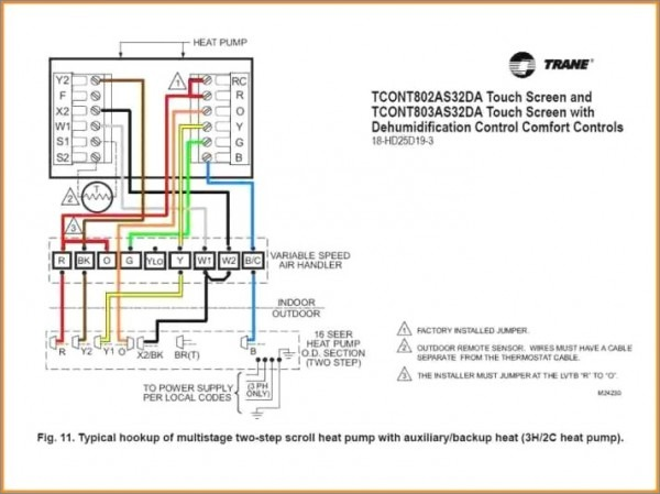 2 Stage Heat Pump Thermostat Wiring Diagram