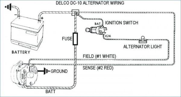 3 Wire Ford Alternator Wiring Diagram