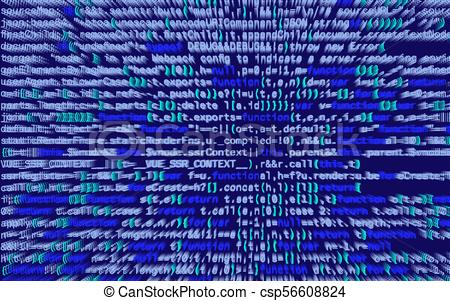 3d Illustration  Abstract Blue Background, Technology  Binary
