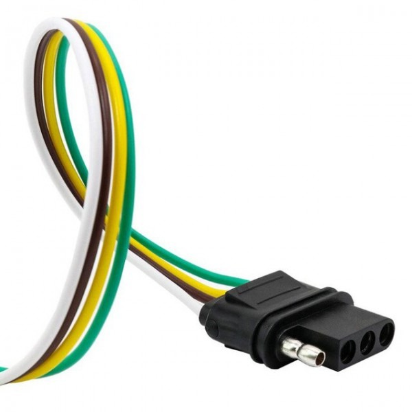 4 Way Flat Output Connects Splices Into Trailer Wiring Connection