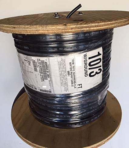500 Feet 10 3 W Ground, Flat Hd Copper Submersible Pump Cable