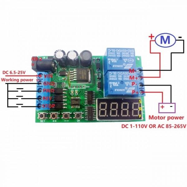 5v 9v 12v 24v Dc Ac Motor Controller Relay Board Forward Reverse
