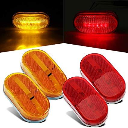 Amazon Com  4 Pcs Trailer Side Marker Lights Amber & Red Led