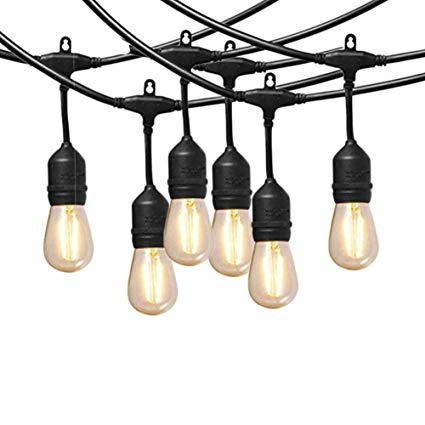 Amazon Com   Cooolight 12 Volt String Lights With Hanging Sockets