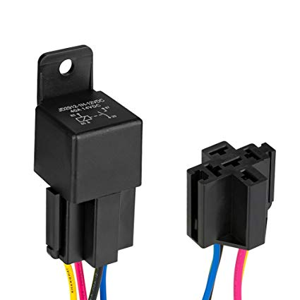 Amazon Com  Automotive Relay Harness Set,jtron 12v 40a 4