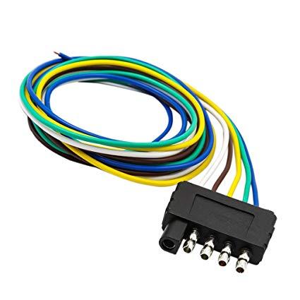 Amazon Com  Jili Online 5 Pin Trailer Flat Plug 960mm Wiring