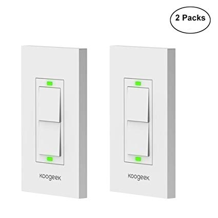 Amazon Com  Koogeek Smart Wifi Light Switch Two