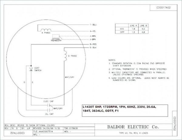 Baldor Brake Wiring Diagram