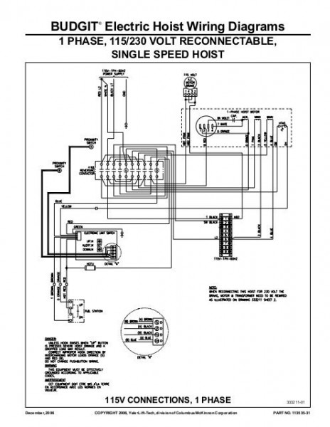 Budgit® Electric Hoist Wiring Diagrams