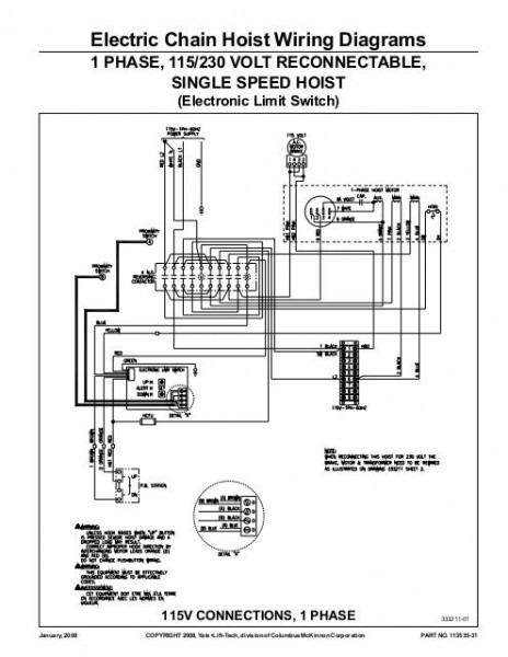 Budgit Hoist Wiring Schematic