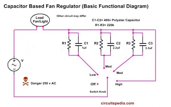 Capacitor Type Fan Control Wiring