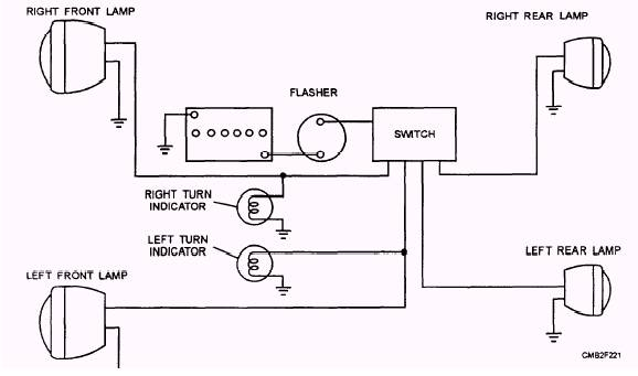 Car Combination Flasher Typical Circuit Diagram