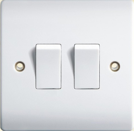 China British Standard Golden Two Gang Wall Switch G