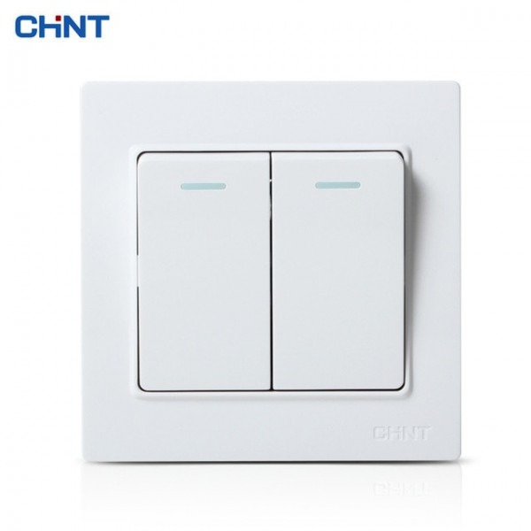 Chint 86 Type Switch Two Gang More Way Three Color Light Switch