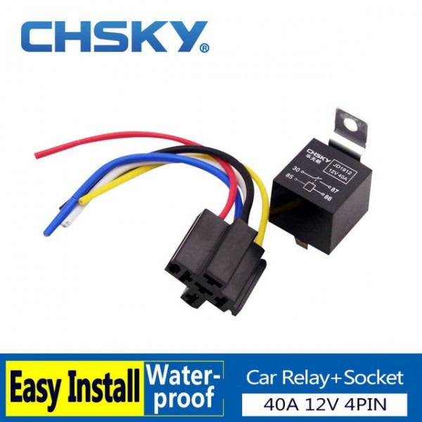 Chsky 1 Piece 4 Pin Relay 12v With High Quality Relay Socket Fit