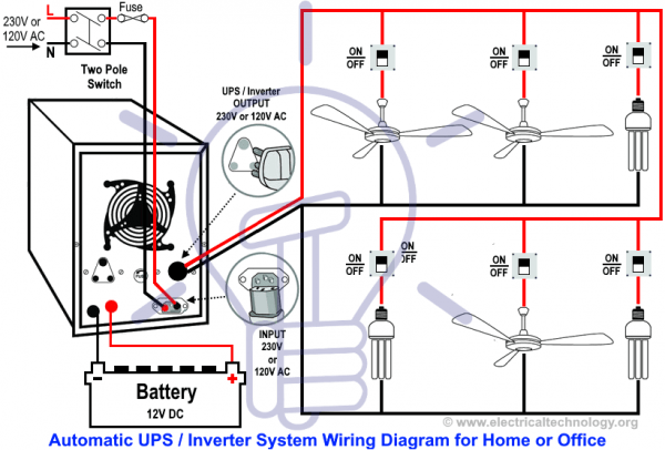 Circuit Diagram For Home Or Office New Design With One Live Wire