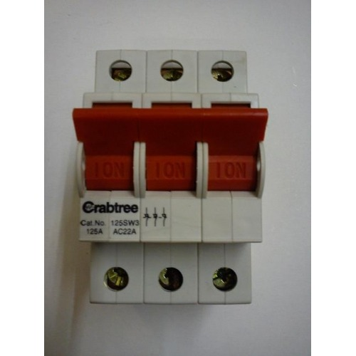 Crabtree Polestar 125a Three Phase Main Switch