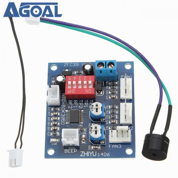Dc 12v Four Wire 4 Wire Thermostat Pwm Fan Speed Controller Module