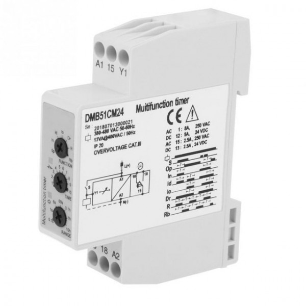 Dc 24v Ac 24 240v Multi Voltage Time Relay Delay Off Switch W  7
