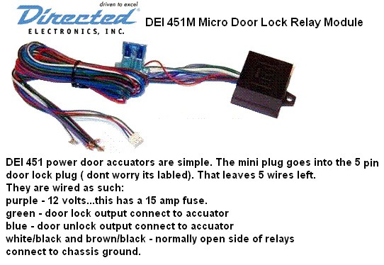 Dei 451m Door Lock Relay Pack W  Resistor Keyless Car Alarm Viper