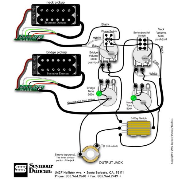 Duncan Coil Tap Wiring Diagrams