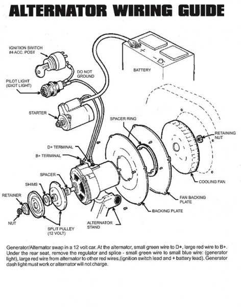 Dune Buggy & Vw Bug Alternator Kit Instructions
