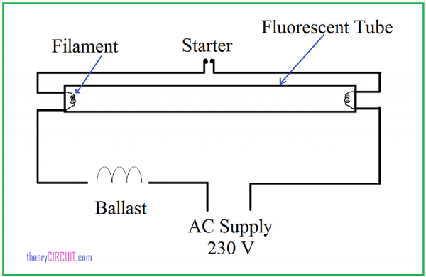 Fluorescent Lamp Wiring Connection