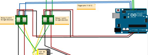 Fritzing Project – Relay Control Dc Motor (with Direction Control)