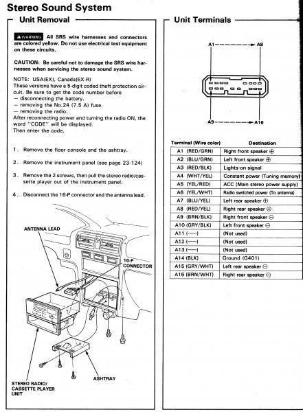 Honda Accord Stereo Wiring