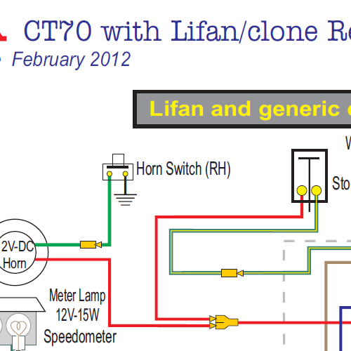 Honda Ct70 Lifan & Clone Engine 12 Volt Wiring Diagram