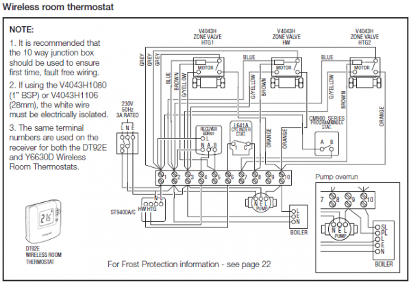 honeywell 3 way valve wiring diagram