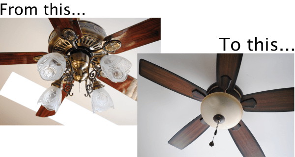 How To Fix A Paddle Ceiling Cute How To Change Ceiling Fan Light