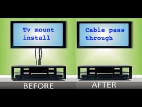 How To Install; Tv, Wall Mount, Outlet, & Cable Management Pass