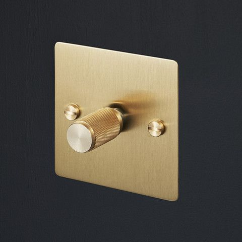 Insanely Gorgeous Brass Switches And Dimmers From Buster And Punch