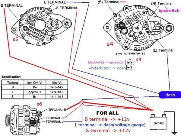 Mitsubishi Alternator Wiring Diagram