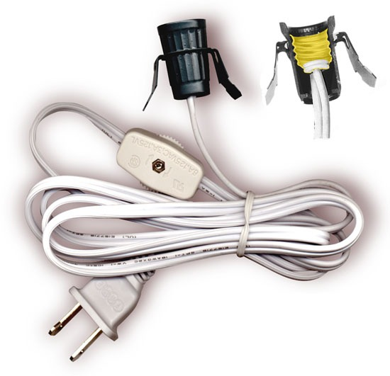 National Artcraft Lamp Cord Sets With Socket, Switch And Molded
