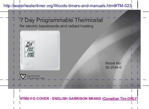 Noma Thermostat Manual