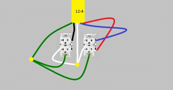 One Duplex Receptacle Split To Be Controlled By 2 Switches